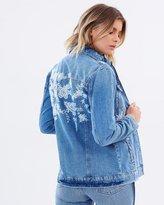 Miss Selfridge Embroidered Denim Jacket