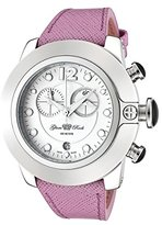 Glam Rock Women's GR32182 SoBe Chronograph White Dial Light Purple Leather Watch