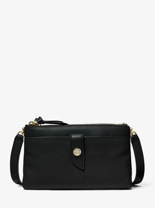 MICHAEL Michael Kors Medium Pebbled Leather Double-Zip Crossbody Bag