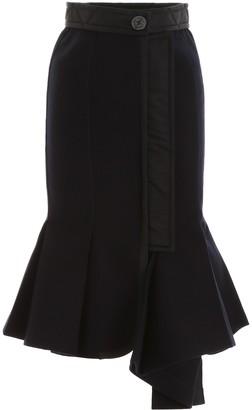 Sacai Wool Melton Skirt