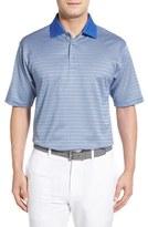 Bobby Jones 'Grid Stripe Jac' Mercerized Cotton Polo