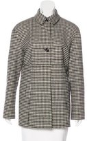 Luciano Barbera Wool Houndstooth Coat