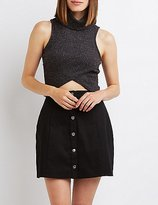 Charlotte Russe Cowl Neck Wrapped Crop Top