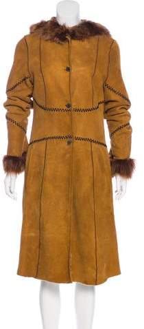 Giuliana Teso Hooded Shearling Coat