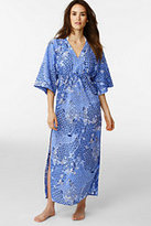 Classic Women's Maxi Caftan Cover Up-Deep Sea Chelsea Paisley