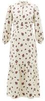 Rebecca De Ravenel Bailey Paisley-print Silk-blend Dress - Womens - White Multi