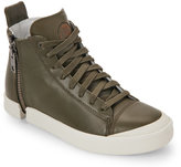 Diesel Olive Night Zip-Around Nentish High Top Sneakers