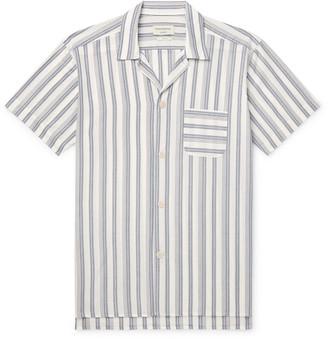 Oliver Spencer Loungewear Striped Organic Cotton Pyjama Shirt
