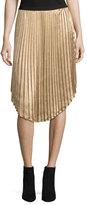 Joie Kambree Pleated Midi Skirt, Gold