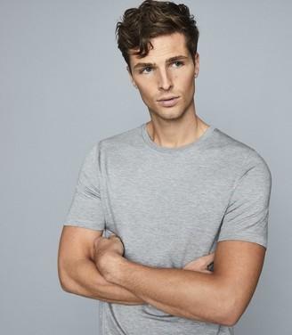 Reiss Brady - Crew Neck T-shirt in Soft Grey