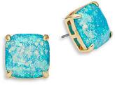 Kate Spade Glitter Square Stud Earrings/Blue
