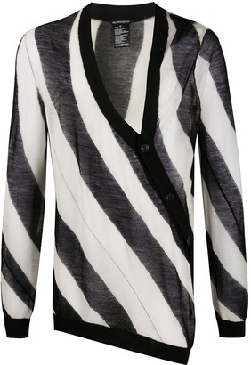 Ann Demeulemeester Knitted Striped Pattern Cardigan