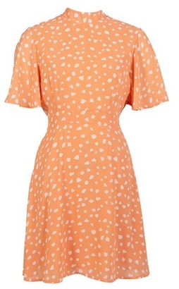 Dorothy Perkins Womens *Blue Vanilla Coral Fit And Flare Dress, Coral