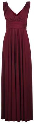 Biba Deep V Maxi Dress Berry 8