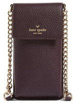 Kate Spade Leather Smartphone Crossbody Bag - Brown