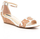Alex Marie Mairi Floral Cork Wedge Sandals