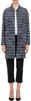 Barneys New York Women's Tweed Belted Jacket-NAVY