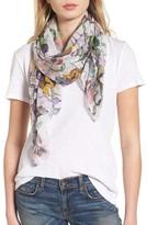 Rag & Bone Women's Floral Camo Chiffon Silk Scarf