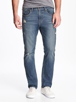 Old Navy Built-In Flex Slim Distressed Jeans for Men