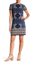 London Times Moroccan Palace Print Shift Dress