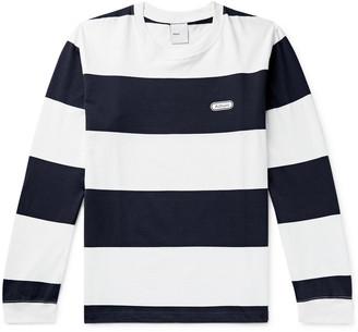 Adsum Logo-Print Striped Cotton-Jersey T-Shirt