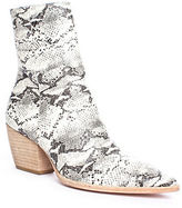 Matisse Caty Snake-print Leather Ankle Boots