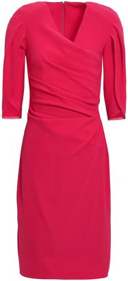 Talbot Runhof Ruched Stretch-crepe Dress