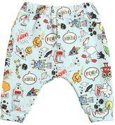 Fendi Space Print Cotton Fleece Jogging Pants