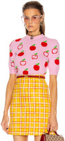 Gucci Short Sleeve Apples Top in Pink & Red | FWRD