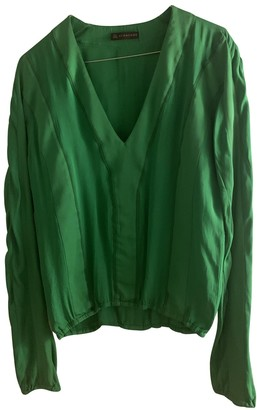 Burberry Green Silk Top for Women Vintage