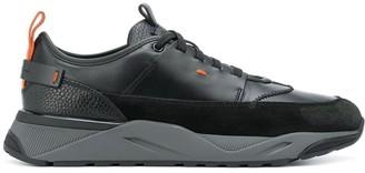 Santoni Contrast Detail Sneakers