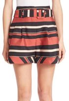 Nicholas Stripe Belted Shorts