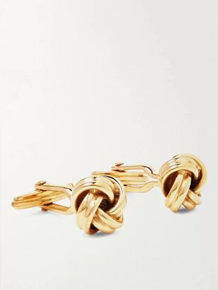 Lanvin Knot Gold-Plated Cufflinks