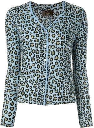 Fendi Pre Owned Leopard Print Cardigan