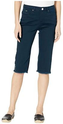 FDJ French Dressing Jeans Sunset Hues Denim Olivia Pedal Pusher in Navy (Navy) Women's Jeans