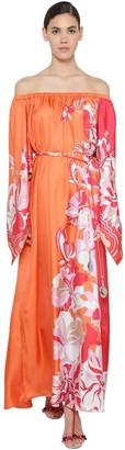 Emilio Pucci Silk Twill Long Dress
