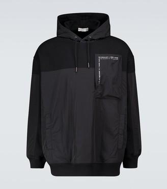 Givenchy Cotton paneled hooded sweatshirt