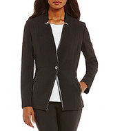 Preston & York Alina Textured Stretch Crepe Suiting Jacket