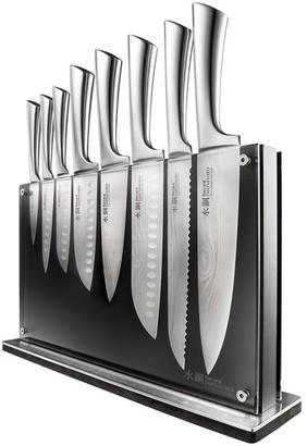Baccarat Damashiro Nami 9-Piece Knife Block