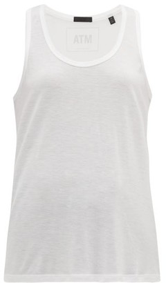 ATM - Racer-back Stretch-modal Tank Top - White