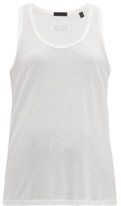 ATM - Racer-back Stretch-modal Tank Top - Womens - White