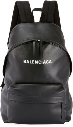 Balenciaga Men's Everyday Large Leather Backpack