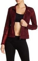 Electric Yoga Biker Faux Suede & Mesh Jacket