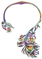 Betsey Johnson Statement Critters Peacock Necklace