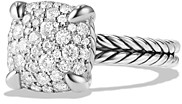 David Yurman Chatelaine Ring with Diamonds in Sterling Silver