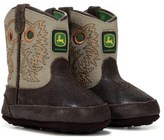 John Deere Kids' Johnny Popper Round Toe Cowboy Boot Baby/Toddler