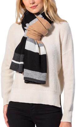 Amicale Cashmere Colorblock Design Wrap