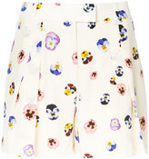 Christopher Kane pansy-print shorts - women - Silk - 40