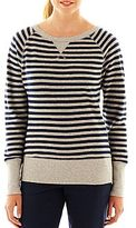 JCPenney XersionTM Striped French Terry Sweatshirt
