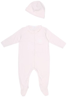 Chloã© Kids Baby cotton onesie and hat set